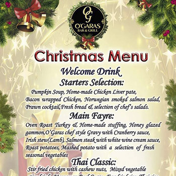 Christmas at O'Garas Bar Pattaya – 25 December 2018