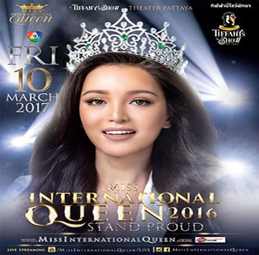 Miss International Queen 2016 at Tiffany's Show Theatre – Friday 10th March 2017