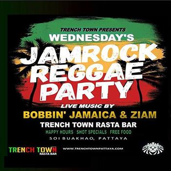 Jamrock Reggae Party at Trench Town Rasta Bar – Wednesdays