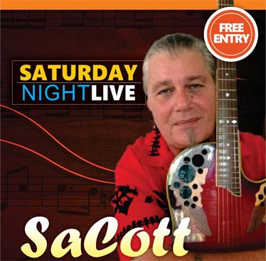 Saturday Night Live with Sacott at New Nordic Steaks, Grill & Winery – 1st October 2016
