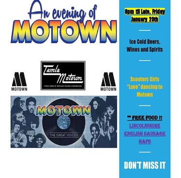 Motown Night at Scooters Bar LK Metro – Friday 20th January 2017