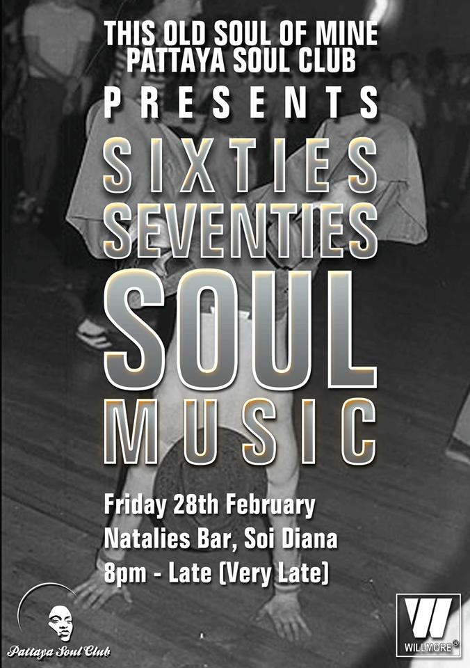 Pattaya Soul Club Present Sixties Seventies Soul Music