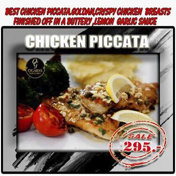 295 baht Chicken Piccata Special at O'Garas Irish Bar & Restaurant
