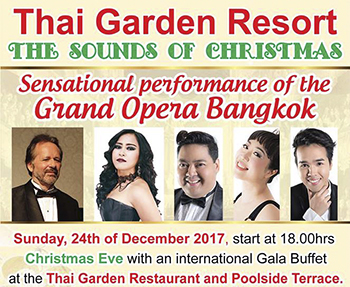 The Sound of Christmas at Thai Garden Resort – 24 December 2017