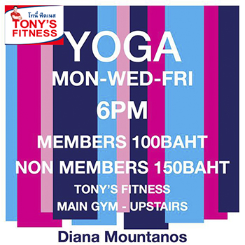 Yoga at Tony's Fitness Pattaya Main Gym – Mon-Wed-Fri
