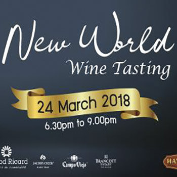 Wine Explorer Night at Havana Bar & Terrazzo Restaurant – 24 March 2018